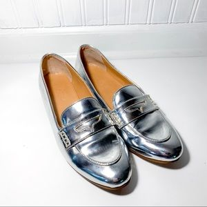 J. Crew Metallic Loafers